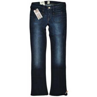 LEE spodnie JEANS blue flare EMELLE PATCH