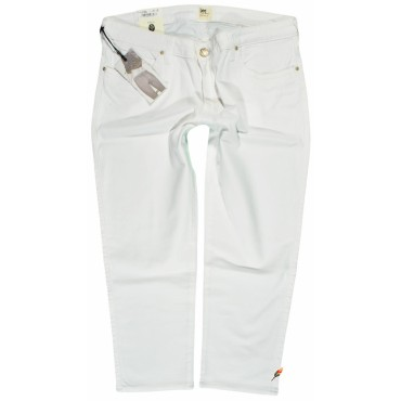 LEE rybaczki WHITE jeans SKINNY CROPPED