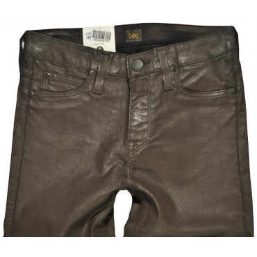 LEE spodnie BROWN high slim JEGGING