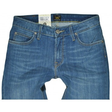 LEE spodnie BLUE jean SLIM straight MARLIN
