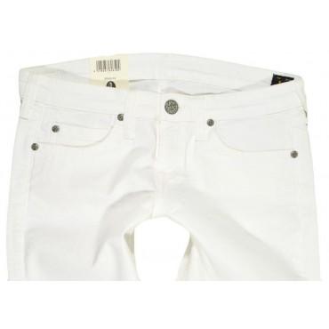 LEE rybaczki WHITE jeans slim low CAPRI