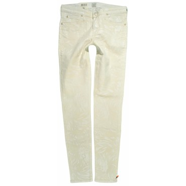 LEE spodnie ECRU skinny regular SCARLETT