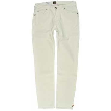 LEE spodnie SLIM jeans cream RIDER