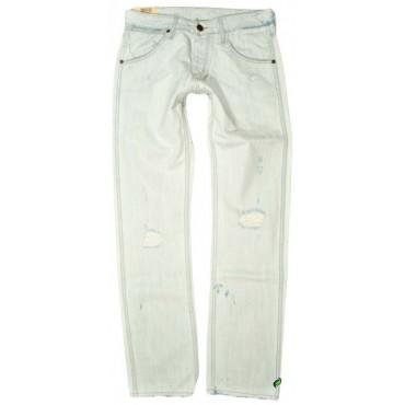 WRANGLER spodnie BLUE jeans straight CRANK